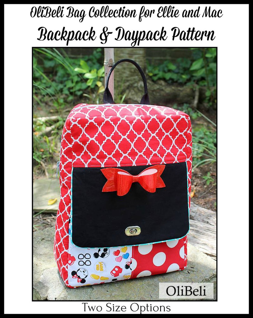 OliBeli Collection Backpack & Daypack Pattern - Ellie and Mac, Digital (PDF) Sewing Patterns | USA, Canada, UK, Australia