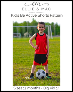 Be Active Shorts Pattern (kid's)