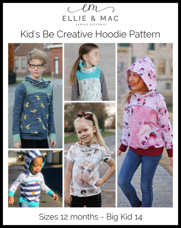Be Creative Hoodie Pattern (kid's)