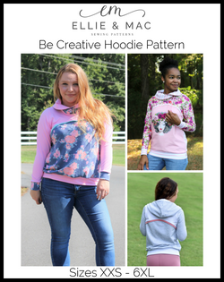 Be Creative Hoodie Pattern (adult)
