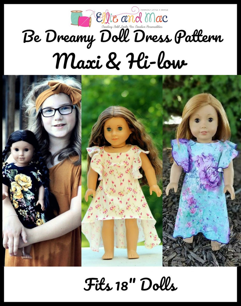 Be Dreamy Doll Dress Pattern