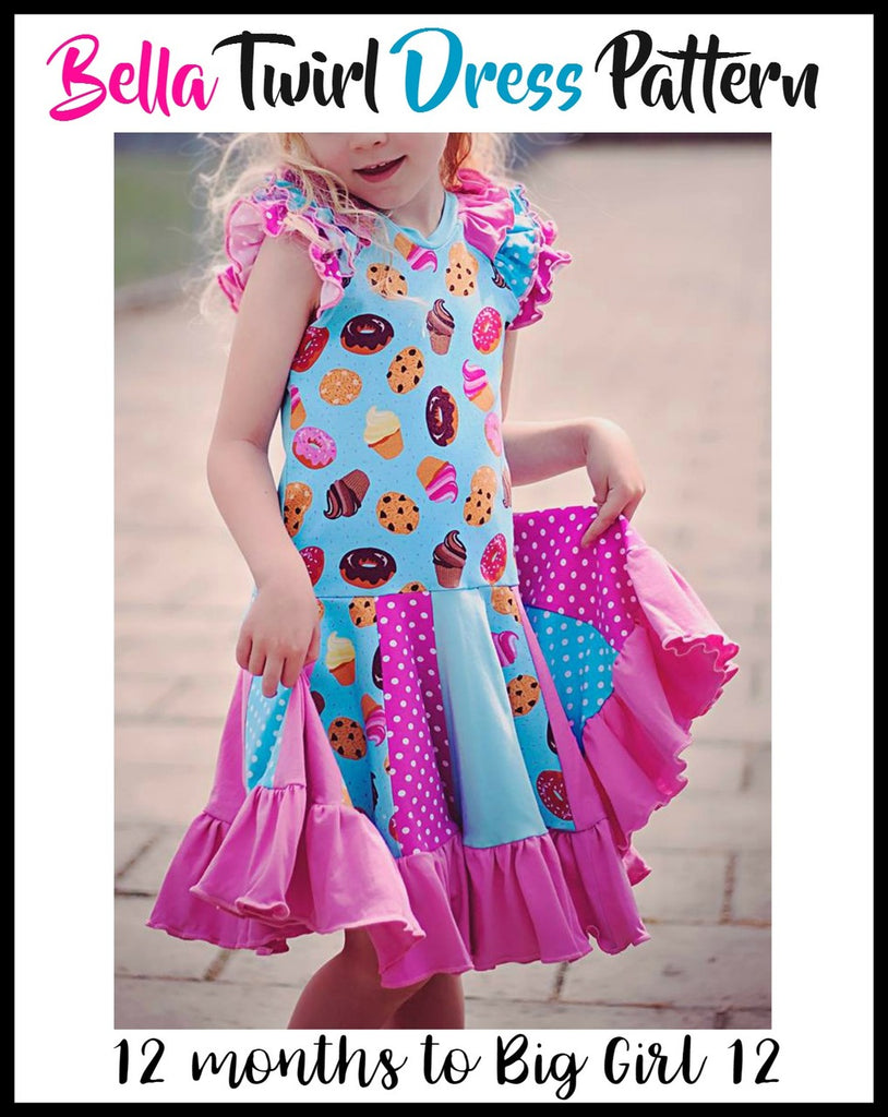 Girls Bella Twirl Dress Pattern - Ellie and Mac, Digital (PDF) Sewing Patterns | USA, Canada, UK, Australia