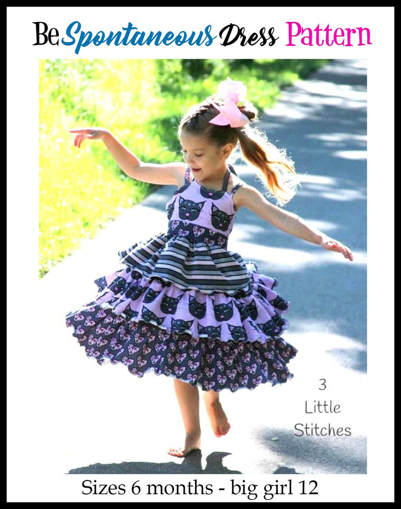 Girl's Be Spontaneous Dress Pattern