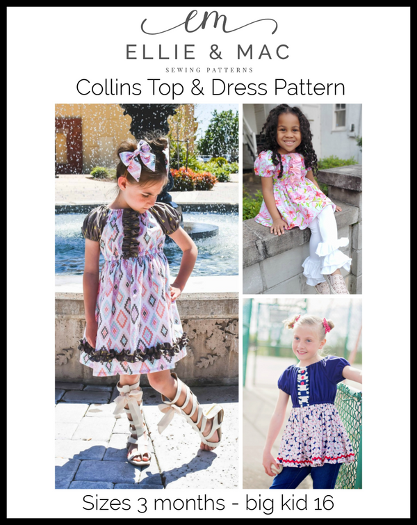 Collins Top and Dress Pattern