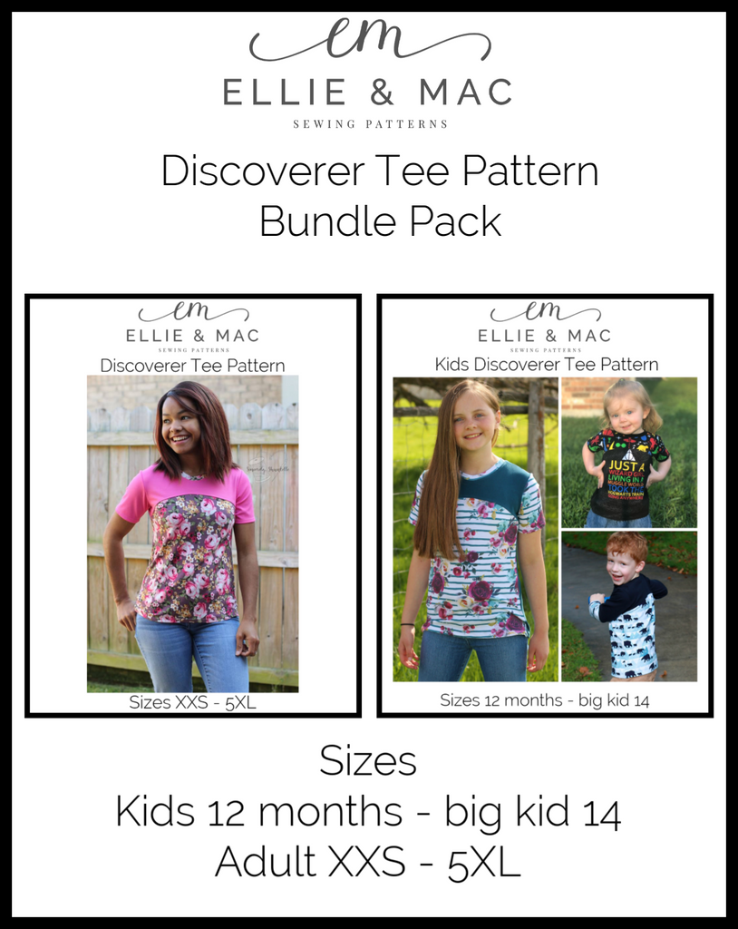 Discoverer Tee Pattern Bundle Pack