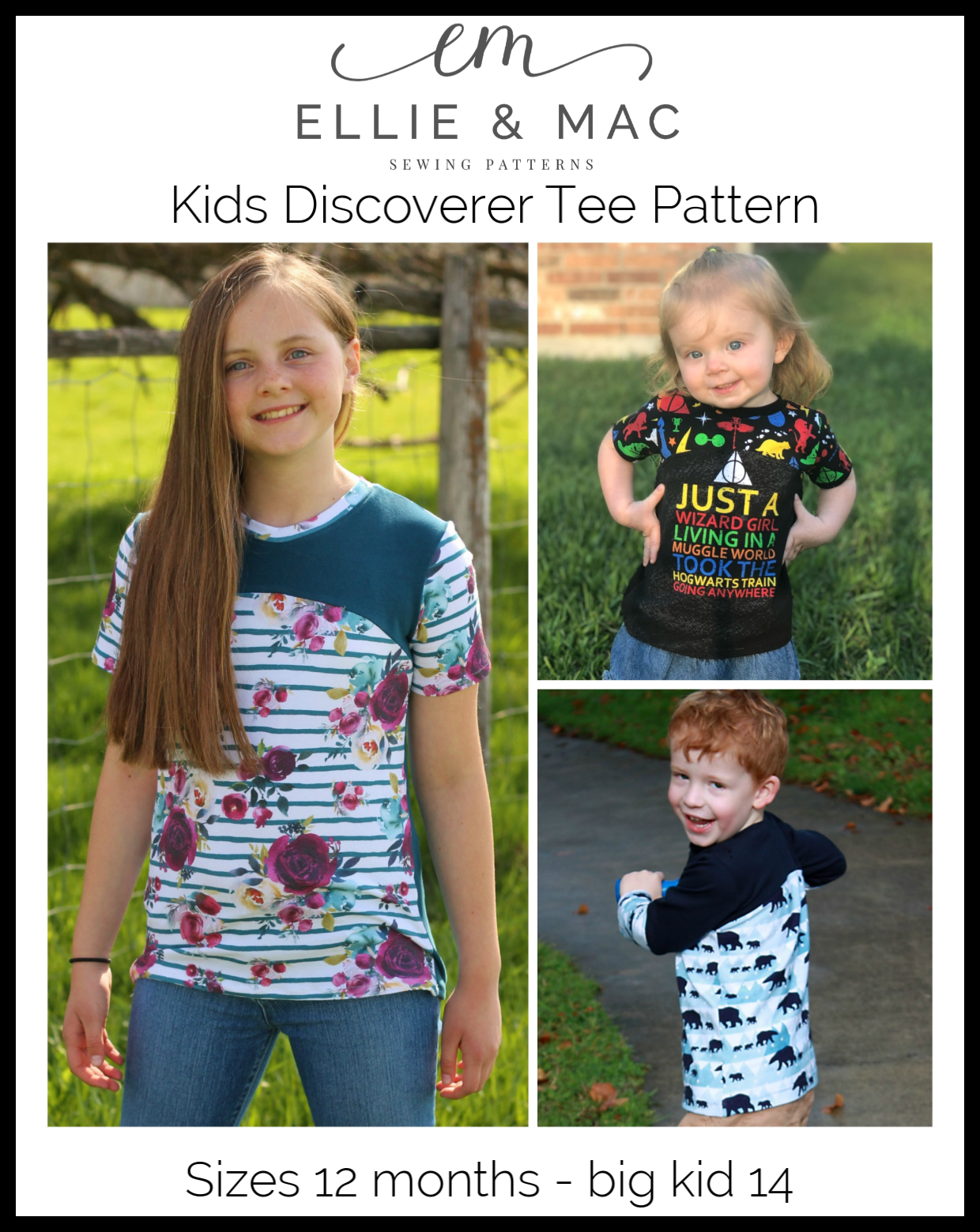 4f37aa3fb Kids Discoverer Tee Pattern – Ellie and Mac | Digital (PDF) Sewing Patterns  | USA, Canada, UK, Australia