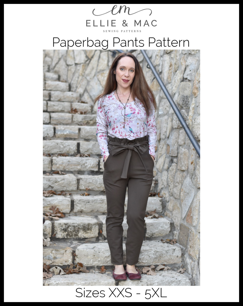 Paperbag Pants Pattern Adult