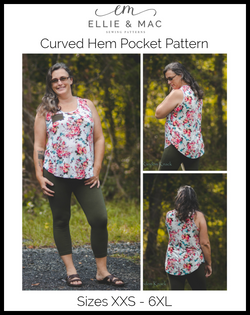 Curved Hem Pocket Tank Pattern
