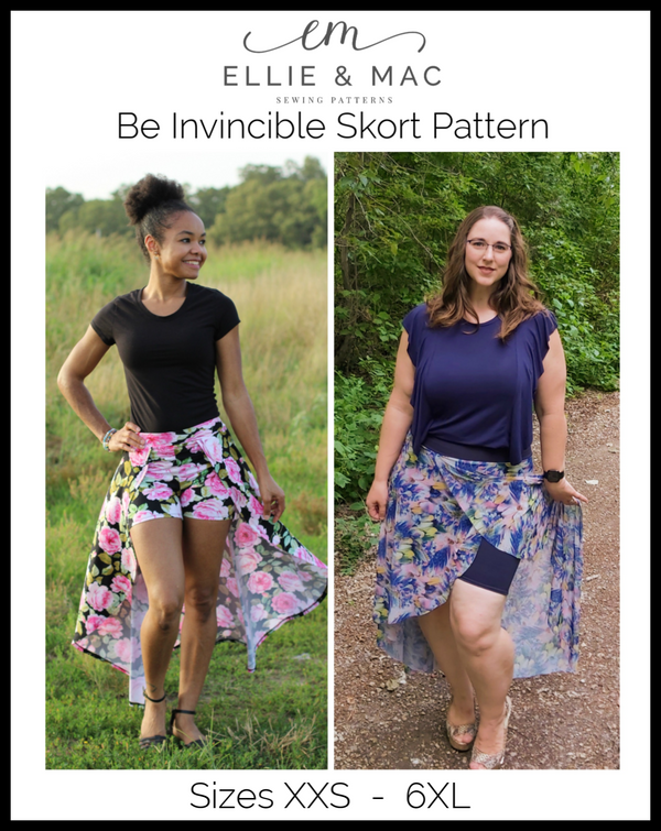 Adult Be Invincible Skort Pattern