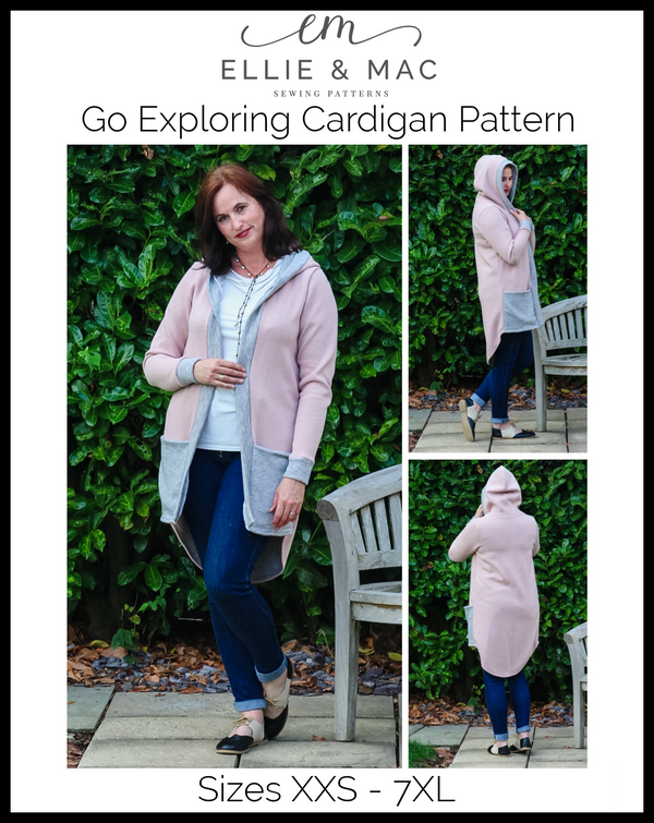 Go Exploring Cardigan Pattern (adult's)