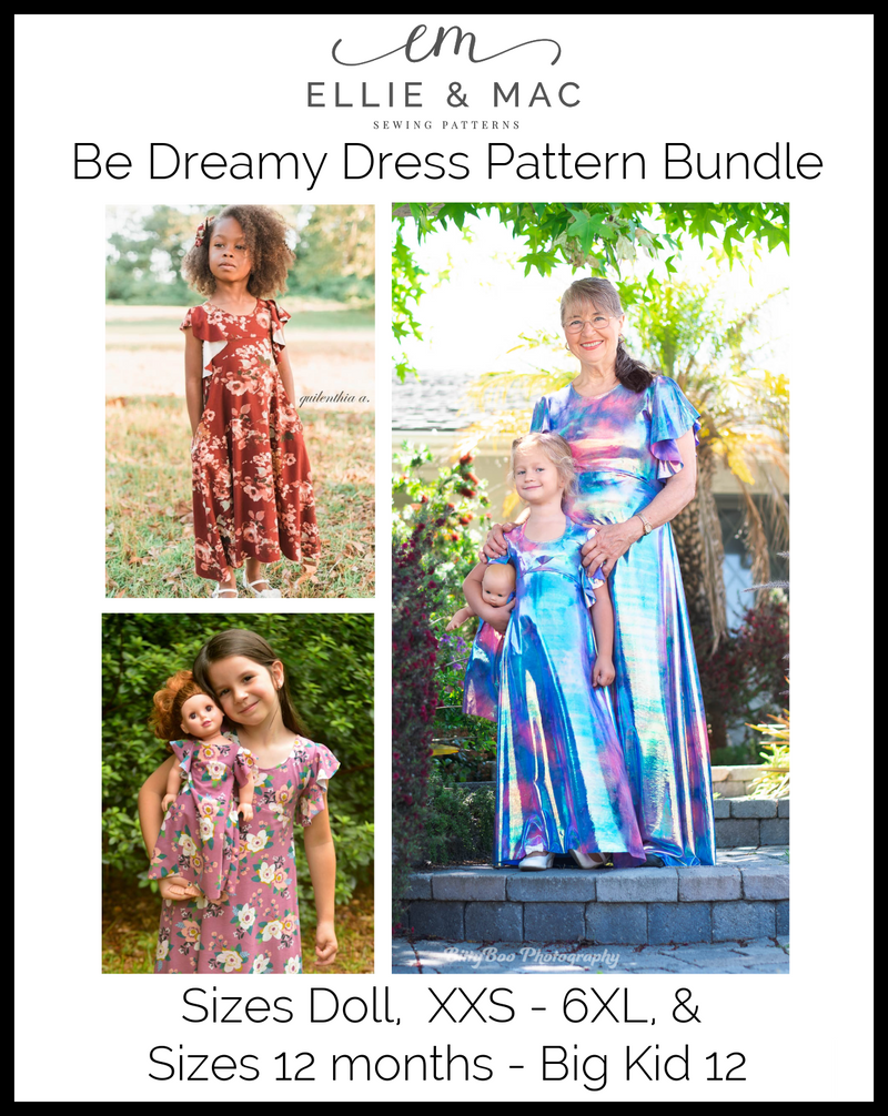 Be Dreamy Pattern Bundle (Kids, Adult, and Doll)