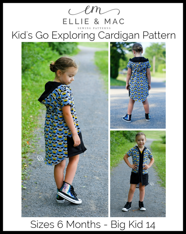 Kid's Go Exploring Cardigan Pattern