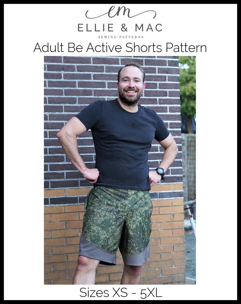 Be Active Shorts Pattern (adult's)