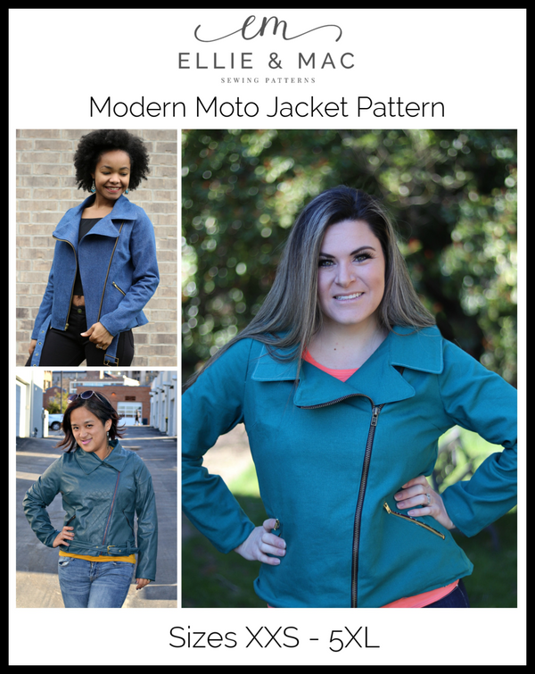 Modern Moto Jacket Pattern Adult