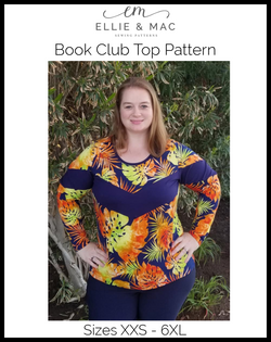 Book Club Top Pattern (adult)