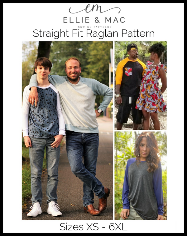 Straight Fit Raglan Top Pattern