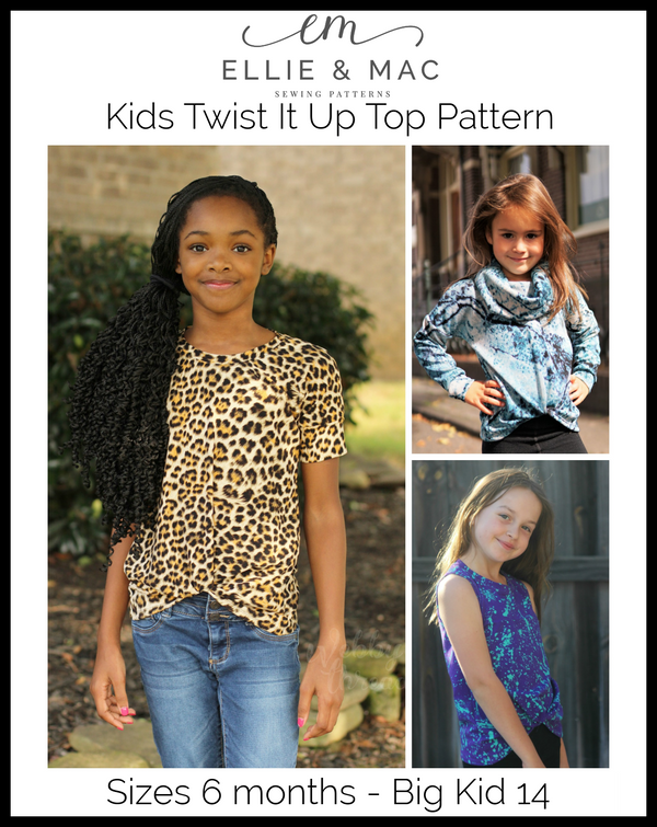 Kids Twist It Up Top Pattern