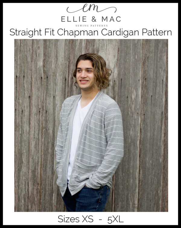 Chapman Cardigan Pattern Adult Straight Fit