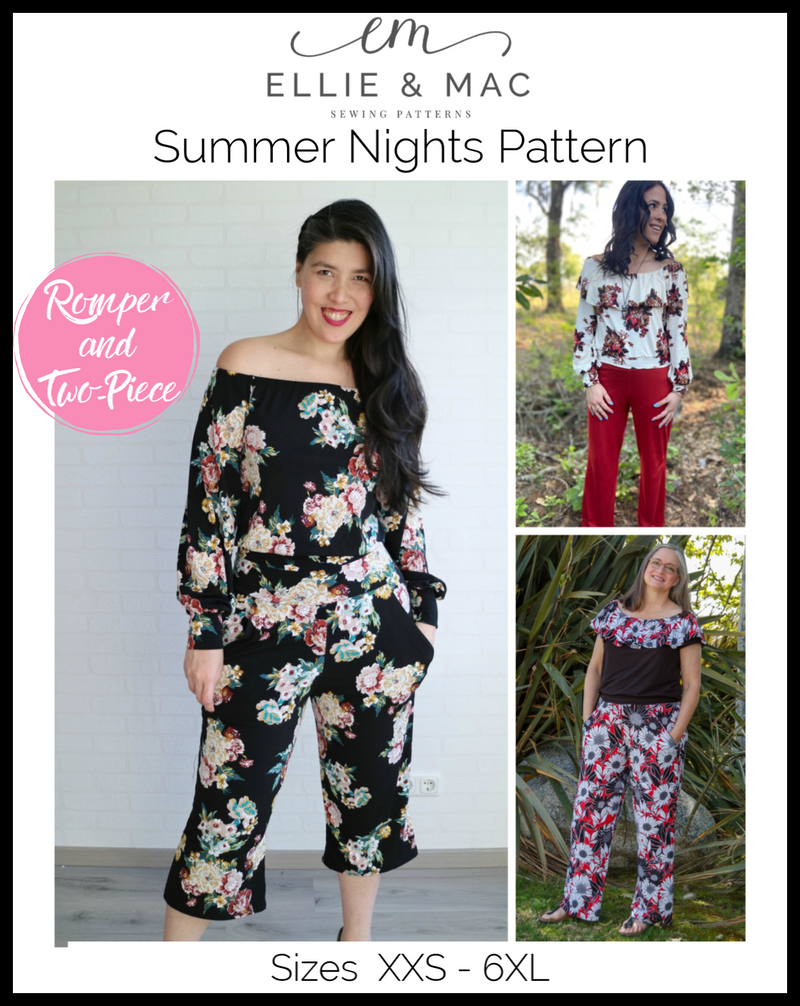 Summer Nights Romper & Two-Piece Set Pattern