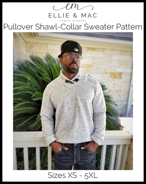 Pullover Shawl-Collar Sweater Pattern