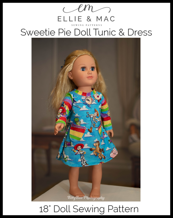 Sweetie Pie Tunic & Dress Doll Pattern