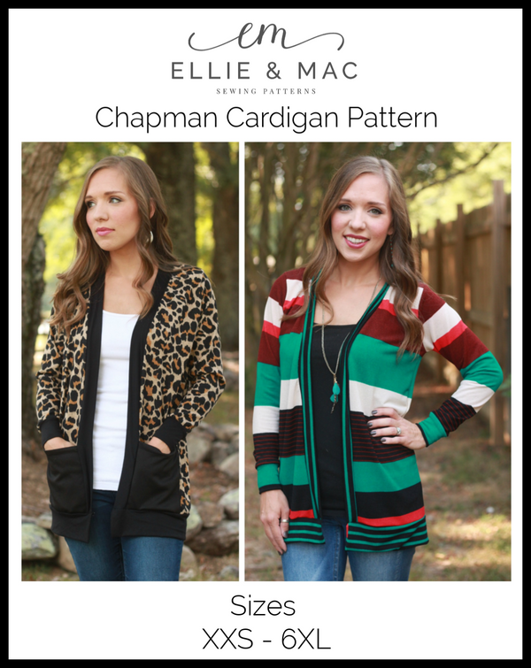 Adult Chapman Cardigan Pattern Curvy Fit Wacky