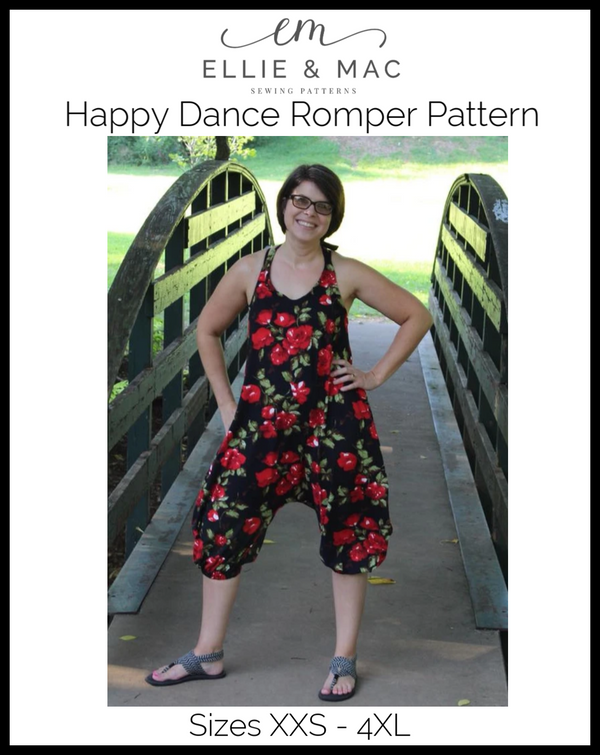 Adult Happy Dance Romper Pattern