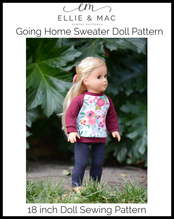 Going Home Sweater Doll Pattern Wacky