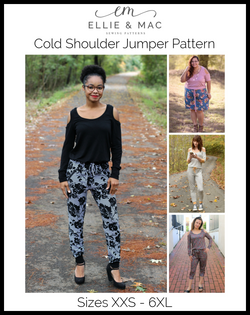Adult Cold Shoulder Jumper Pattern
