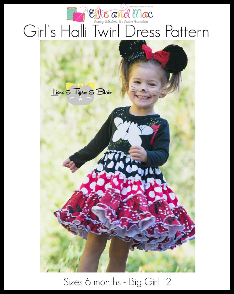 Girls Halli Tiered Dress Pattern