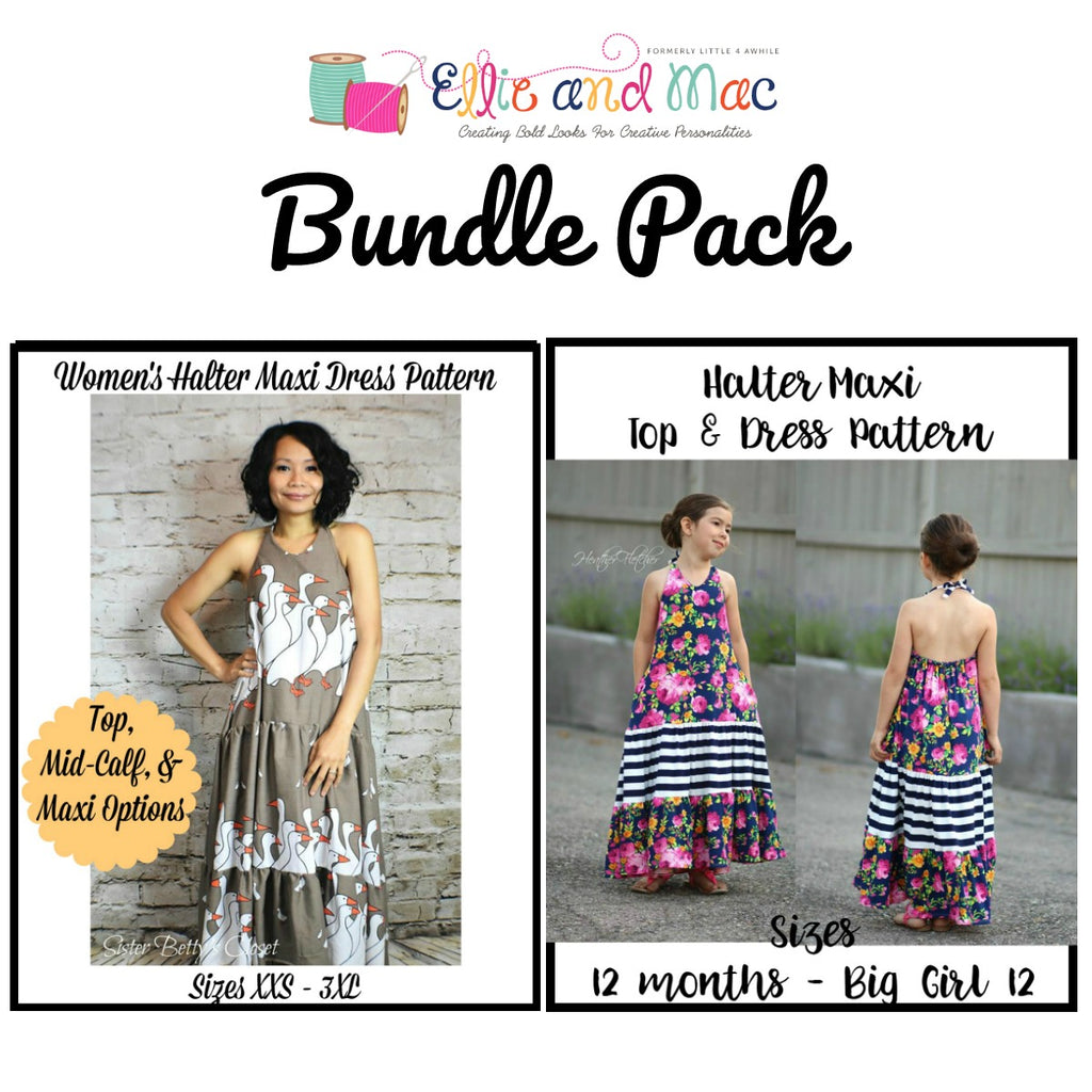 Halter Maxi Women and Girl Pattern Bundle Pack