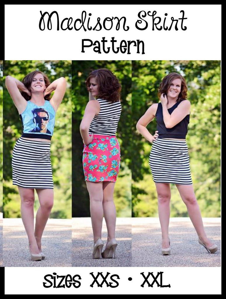 Women's Madison Skirt Pattern - Ellie and Mac, Digital (PDF) Sewing Patterns | USA, Canada, UK, Australia
