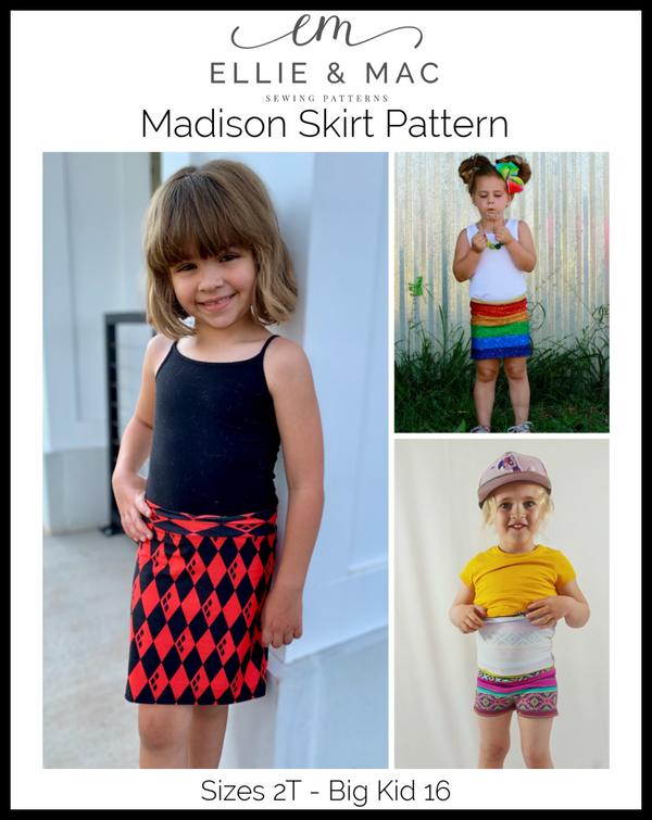 Madison Skirt Pattern (kid's)