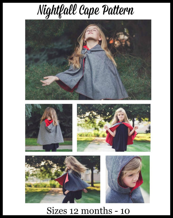 Kids Nightfall Cape Pattern