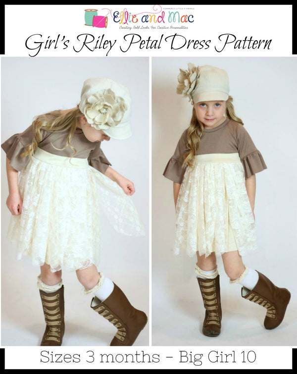 Girls Riley Petal Dress Pattern