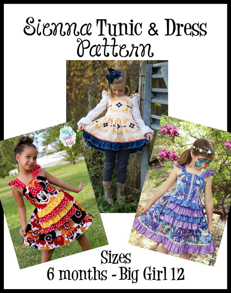 Girl's Sienna Dress & Tunic Pattern