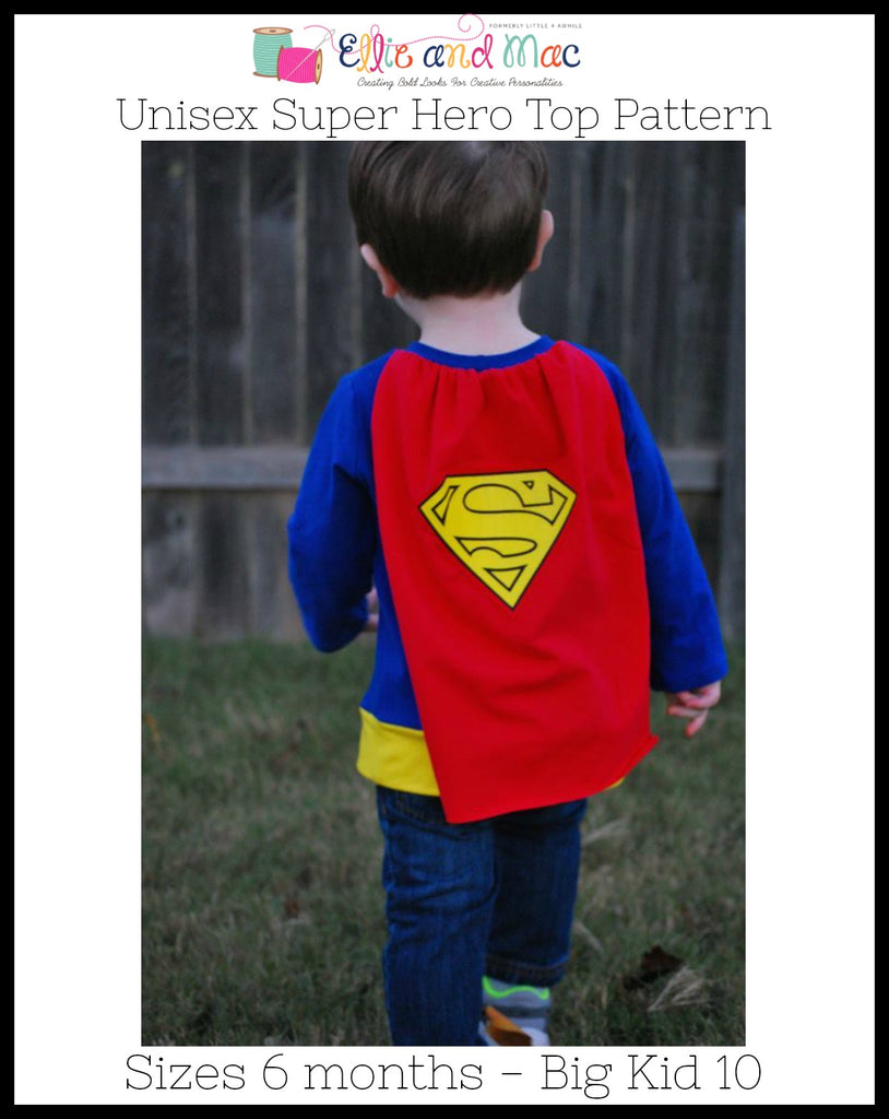 Super Hero Cape Tee Pattern