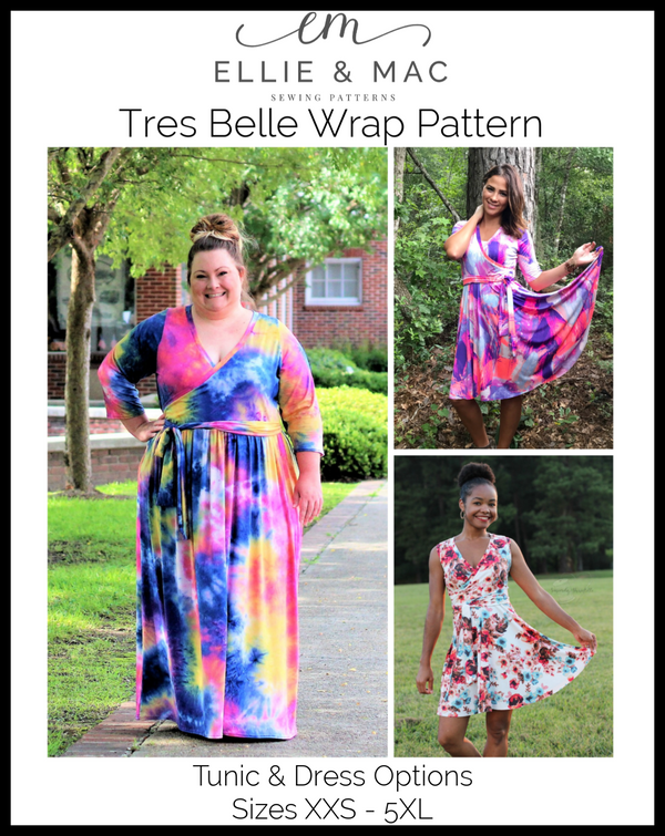 Tres Belle Wrap Tunic & Dress Pattern Wacky
