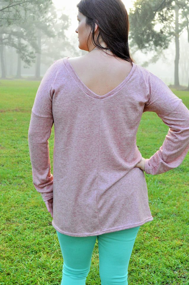 Women's Fireside Top Pattern - Ellie and Mac, Digital (PDF) Sewing Patterns | USA, Canada, UK, Australia