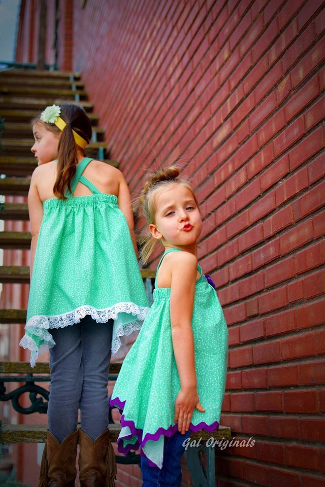 Girl's Free To Be Me Tank Pattern - Ellie and Mac, Digital (PDF) Sewing Patterns | USA, Canada, UK, Australia
