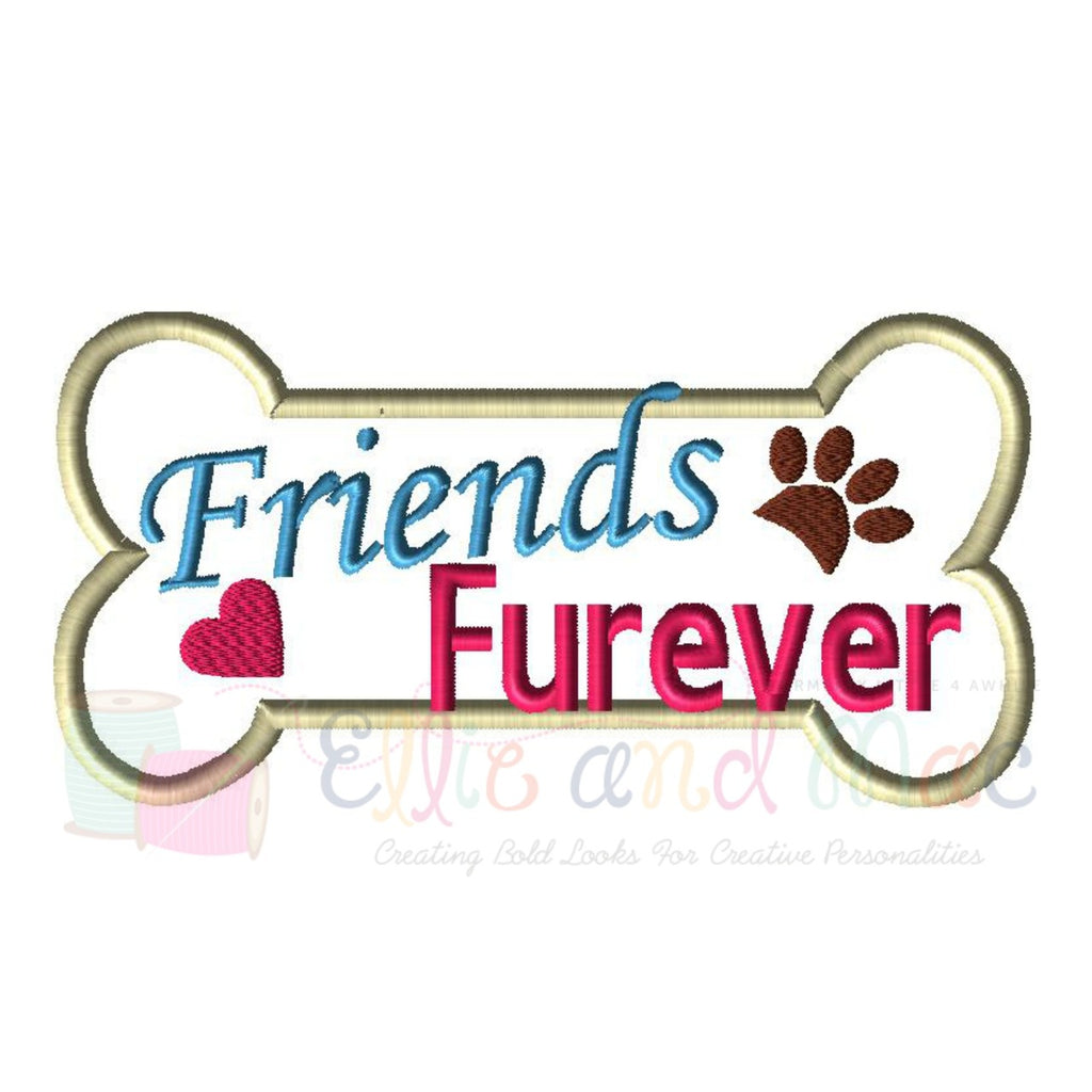 Friends Furever Bone Applique Design - Ellie and Mac, Digital (PDF) Sewing Patterns | USA, Canada, UK, Australia
