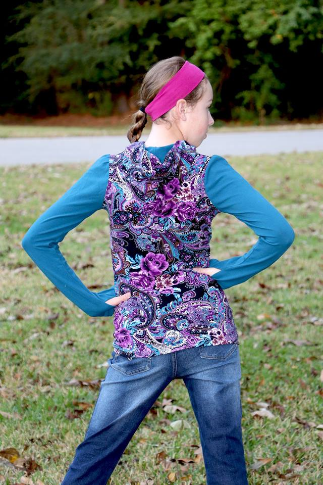 Girl's Game Time Hoodie Pattern - Ellie and Mac, Digital (PDF) Sewing Patterns | USA, Canada, UK, Australia