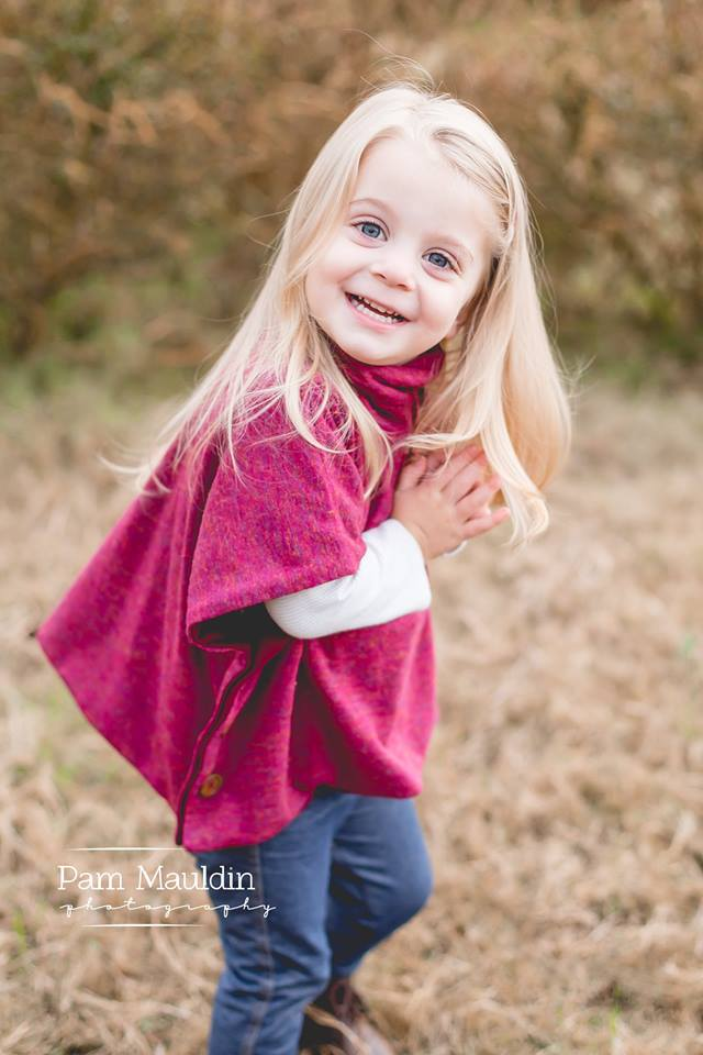 Girl's Sugar n' Spice Poncho Pattern Wacky - Ellie and Mac, Digital (PDF) Sewing Patterns | USA, Canada, UK, Australia