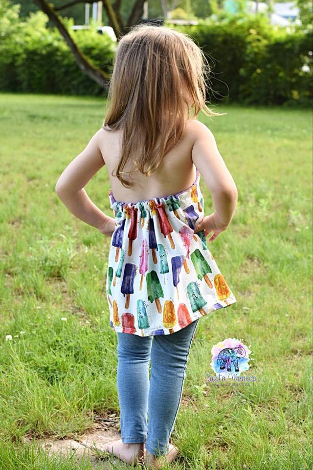 Girl's Halter Maxi Top & Dress Pattern