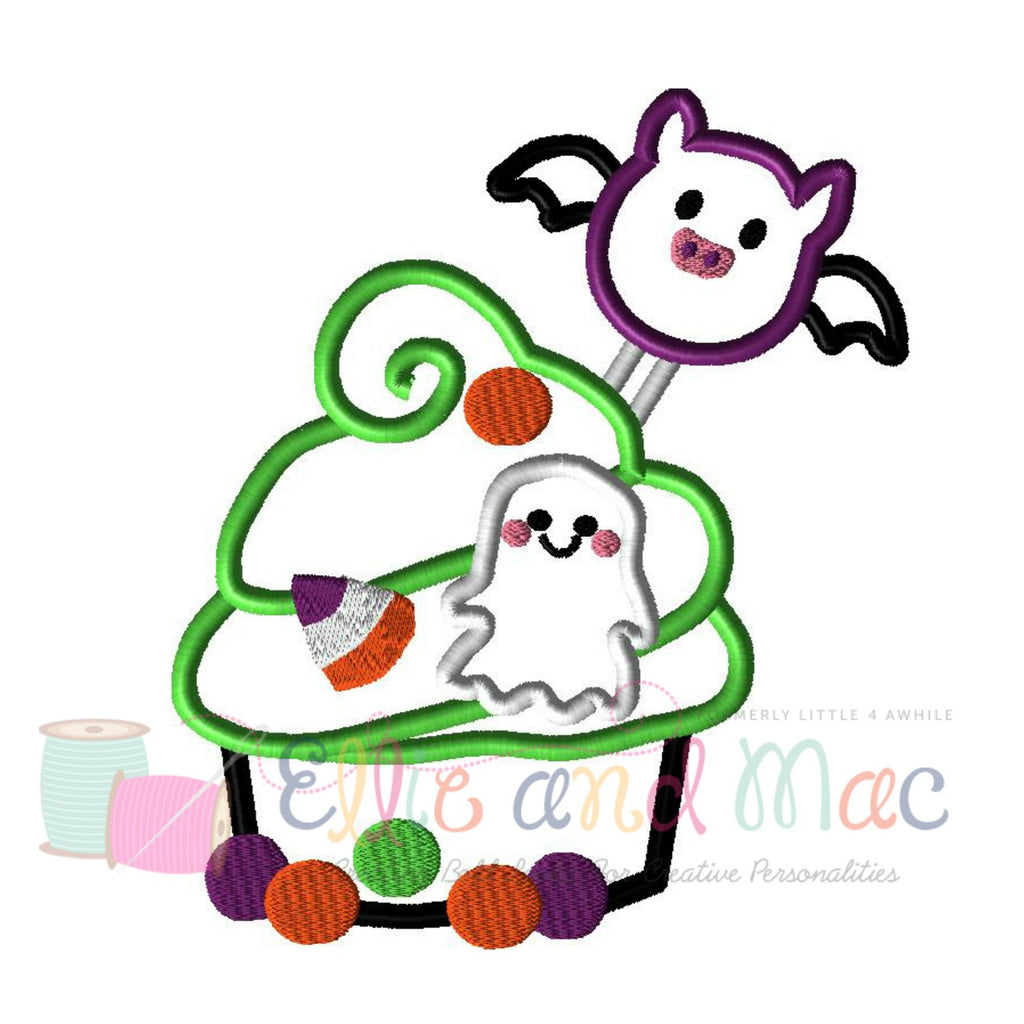 Halloween Cupcake Applique Embroidery Design