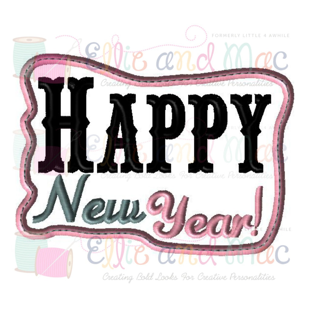 Happy New Year Applique Design