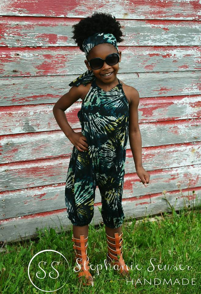 Girl's Hip Hop Romper Pattern - Ellie and Mac, Digital (PDF) Sewing Patterns | USA, Canada, UK, Australia