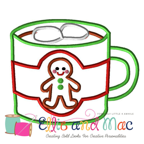 Hot Cocoa Applique Design