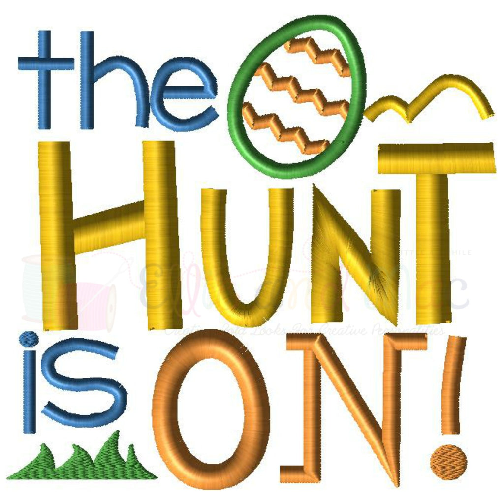 The Hunt Is On Easter Applique Design