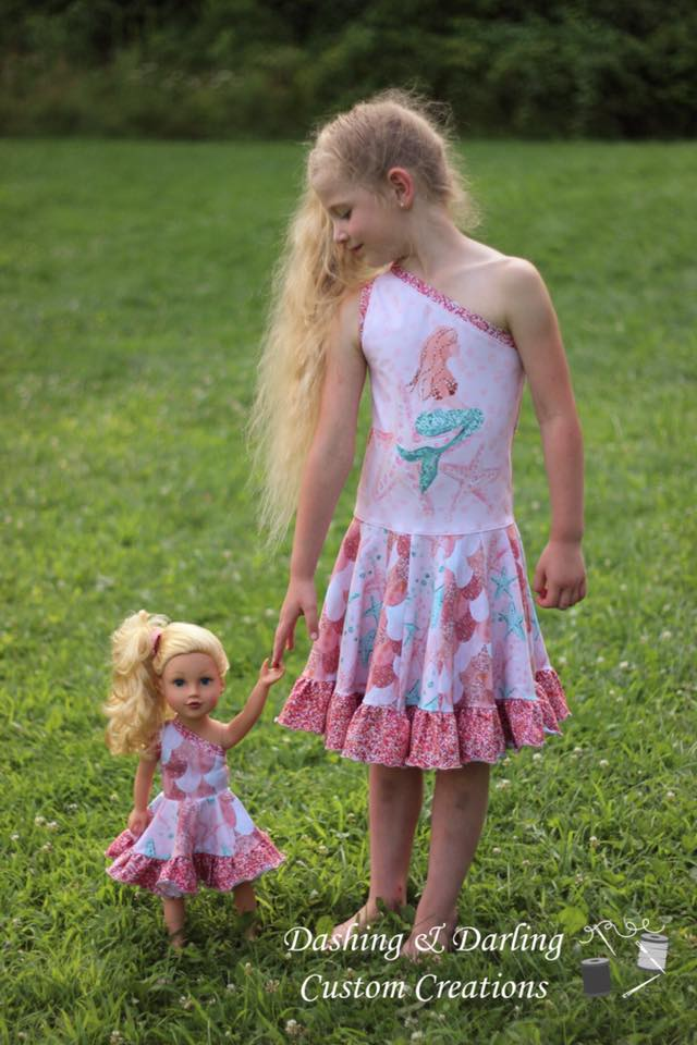 Girl's & Doll Island Hopper Dress Pattern Bundle Pack